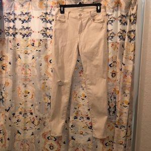 Mother brand cream stretch jeans size 28